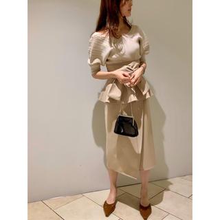 snidel - タグ付新品 リボンディテールポンチスカート