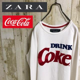 ZARA - ZARA ザラ コカコーラ コラボ ビッグロゴ スウェット トレーナー