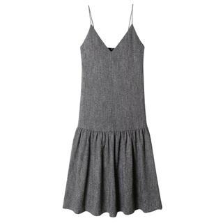 LE CIEL BLEU - ルシェルブルー  ツイードロウギャザードレス ワンピース