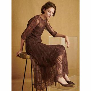 FRAY I.D - フレイアイディー    刺繍レースロングドレス