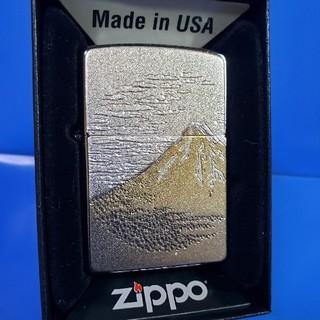 ジッポー(ZIPPO)の新品❤15D'ZIPPO❤富士山 電鋳板プレート❤ブラックアイス❤送料無料(タバコグッズ)
