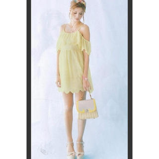 マーキュリーデュオ(MERCURYDUO)のマーキュリーデュオ Mercuryduoドレス シェル刺繍キャミ ワンピース  (ミニワンピース)