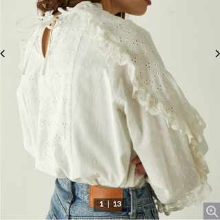 moussy - MOUSSY MOUSSY EMBROIDED LACE ブラウス