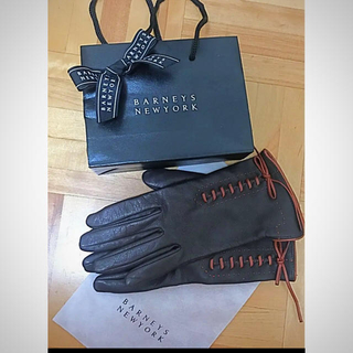 BARNEYS NEW YORK - BARNEYS NEW YORK イタリア製 レザー 手袋