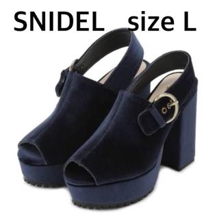 snidel - スナイデル  バックストラップサンダル ネイビー
