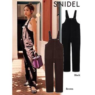 snidel - 紗栄子さん着用 スナイデル ストレートオーバーオール ブラウン