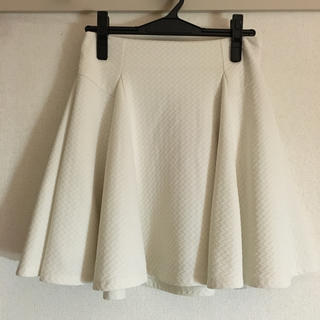 マーキュリーデュオ(MERCURYDUO)の白スカート(ミニスカート)