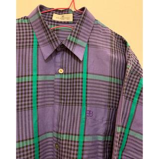 Balenciaga - used 90'S バレンシアガ チェック柄 vintageシャツ