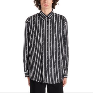 Balenciaga - balenciaga ロゴ ストライプ シャツ