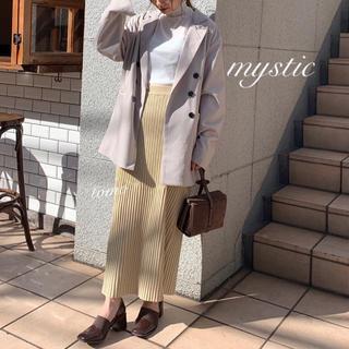 mystic - 春新作❁ミスティック ランダムリブニットスカート