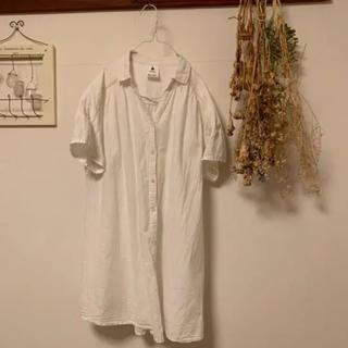 niko and... - ニコアンド  白シャツ ロングシャツ シャツワンピース チュニック…M