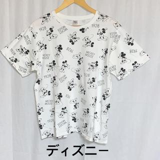 Disney - ディズニー ミッキーマウス 総柄プリントTシャツ ユニセックス