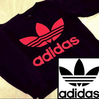 adidas - ◌⑅⃝♡⃝adidas 両面プリント スウェット デカプリント♡⃝⑅⃝◌