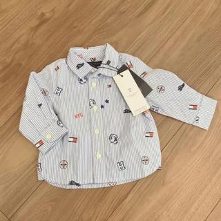 トミーヒルフィガー(TOMMY HILFIGER)のカッターシャツ  80 キッズ 男の子 お出掛け(Tシャツ)