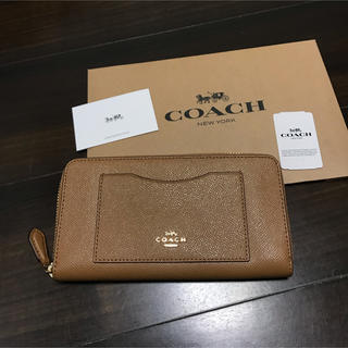 COACH - ★新品★COACH(コーチ)  ライトサドル(ベージュ)レザー 長財布