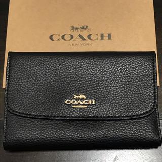 COACH - 新品☆コーチ 折り財布 ブラック 箱付き