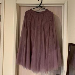 GRL - チュールスカート ロングスカート パープル ピンクパープル 紫