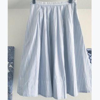 マーガレットハウエル(MARGARET HOWELL)のマーガレットハウエル コットンスカート 美品(ひざ丈スカート)