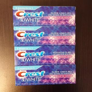 クレスト(Crest)のCrest 3DWHITE  歯みがき粉 90ml 4本セット(歯磨き粉)