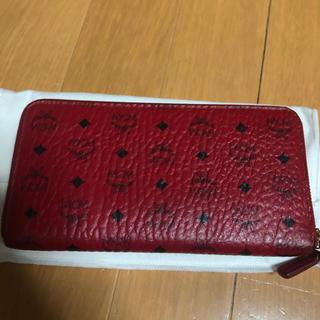 エムシーエム(MCM)のMCM ラウンドファスナー 赤 長財布(長財布)