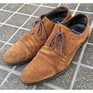 リーガル(REGAL)のヒルトンHiltonキャメルスエード イタリア製シューズ茶革靴ベージュブラウン(ドレス/ビジネス)