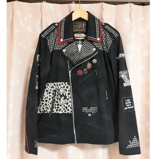 HYSTERIC GLAMOUR - 【新品】ヒステリックグラマー CR/CR PATCH RIDERS 転写 レザー