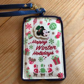 ミッキーマウス(ミッキーマウス)のディズニーランド クリスマス パスケース チケットホルダー(キャラクターグッズ)