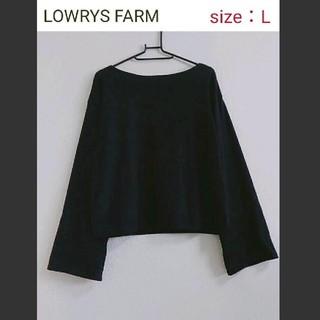 LOWRYS FARM - 【未使用】LOWRYS FARM ワイドスリーブ ボートネックカットソー
