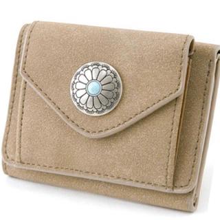 ミニ財布 コンチョボタン  ベージュ(財布)