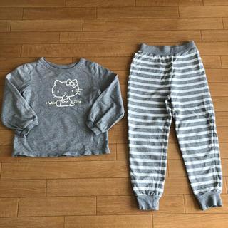 GU - GU スウェットセット ハローキティ パジャマ 110サイズ  綿100%