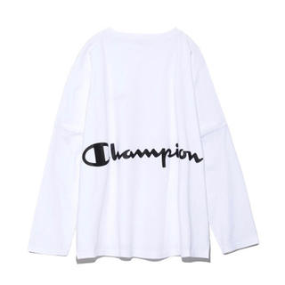 FRAY I.D - FRAY I.D×Champion フレイアイディーバックプリントロングTシャツ