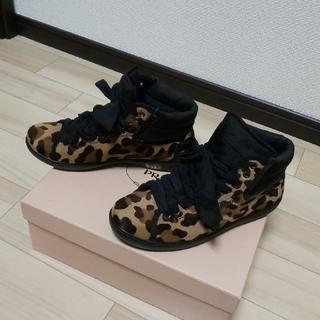 PRADA - PRADA プラダ スニーカー シューズ ハラコ レオパード 靴 36