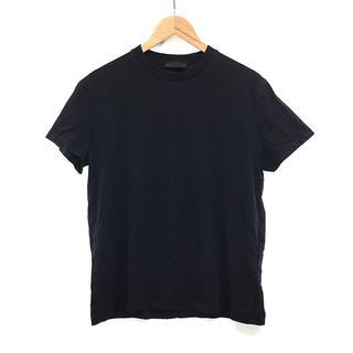 プラダ(PRADA)のPRADA プラダ クルーネック Tシャツ 黒 ブラック 無地 XL/LL(Tシャツ/カットソー(半袖/袖なし))