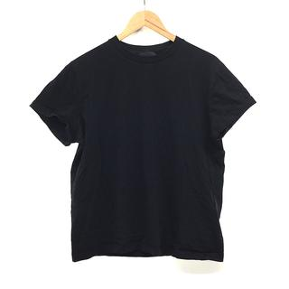 プラダ(PRADA)のPRADA プラダ クルーネック Tシャツ 半袖 黒 ブラック XL/LL(Tシャツ/カットソー(半袖/袖なし))