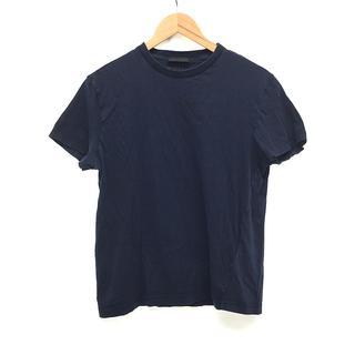 プラダ(PRADA)のPRADA プラダ 半袖 クルーネック Tシャツ L 紺 ネイビー(Tシャツ/カットソー(半袖/袖なし))