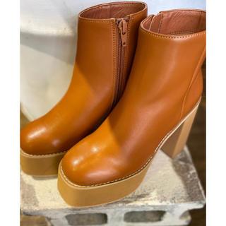 スライ(SLY)のSLY☆ CHUNK SOLE BOOTS(ブーツ)