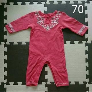 babyGAP - babyGap ベビーギャップ 花刺繍 ロンパース