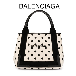 Balenciaga - 【新品】バレンシアガ  ネイビー カバ Sサイズ 水玉