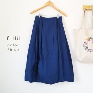 merlot - 春の新作*fillil ビタミンカラーコクーンスカート ブルー