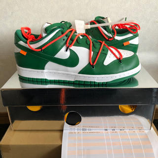 NIKE - 28cmNIKE off-white dunk low パイングリーン