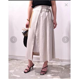Ameri VINTAGE - Eimee Lawリネン×チュールポケットデザインベルトスカート