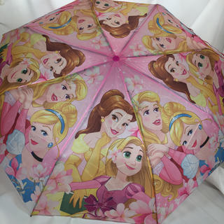 ディズニー(Disney)のDisneyプリンセス 折りたたみ傘 小学生〜シンデレラ ベル ラプンツェル (傘)