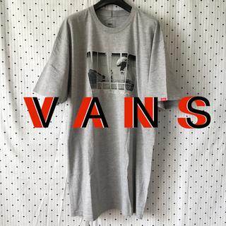 ヴァンズ(VANS)のVANSバンズ US限定newskoolロゴフォトプリントTシャツash L(スケートボード)