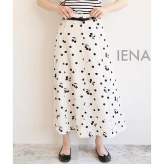 IENA - 新品未使用⭐️IENA seseチェリー柄フレアースカート