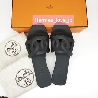 Hermes - 新品★エルメス サンダル アロハ 37 ブラック