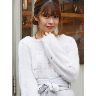 dazzlin - dazzlin☆シャギー刺繍ニットトップス