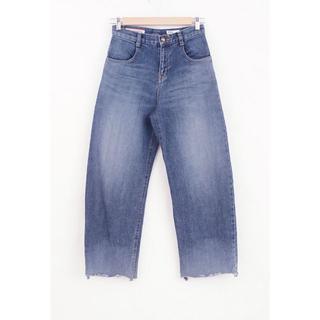 ダブルスタンダードクロージング(DOUBLE STANDARD CLOTHING)のダブスタ カットオフ ワイドデニム パンツ サイズ34(デニム/ジーンズ)