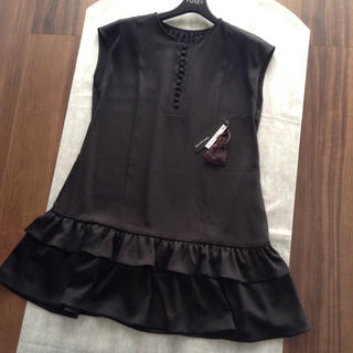 FOXEY - FOXEY♡blouse one-piece 38 黒 タグ付き 新品同様
