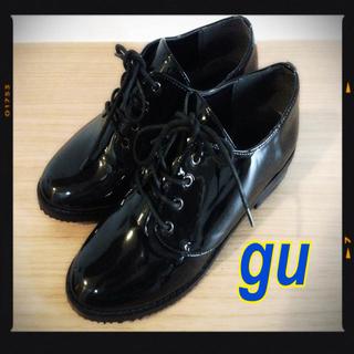 ジーユー(GU)のgu♡エナメルオックスフォードシューズ(ローファー/革靴)
