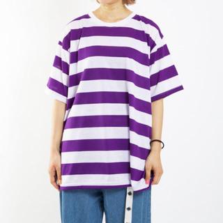 セブンズ ボーダービッグTシャツ パープル(Tシャツ(半袖/袖なし))